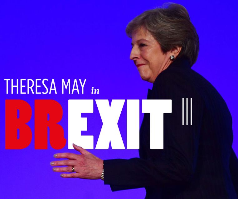 Theresa May in Brexit. Beeld