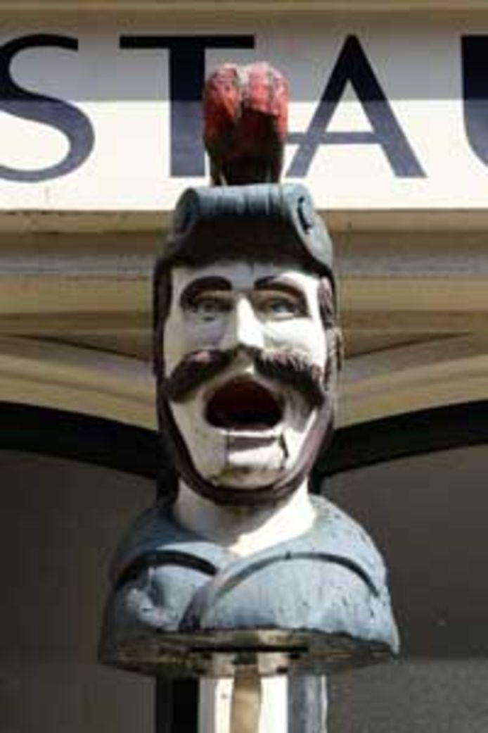 De in 2011 gestolen gaper van de Gravenstraat.