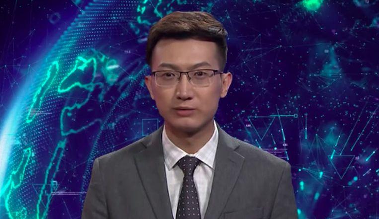 AI-nieuwslezer van Xinhua.