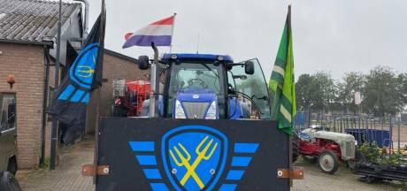 'Denderende stoomwals van boeren' naar Den Haag, ook protest bij Albert Heijn Zwolle