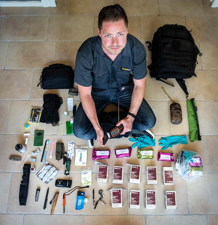Jeroen Klaassen, doomsday prepper, is wèl goed voorbereid op noodsituaties