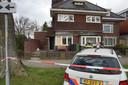 Huis beschoten in Waalwijk. Hier staat de tuintafel nog op zijn plek.