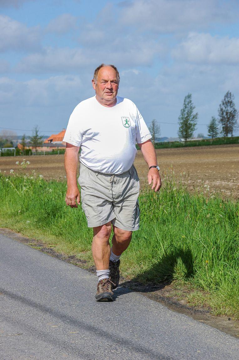 Frans Malengier, voorzitter van de Wervikse Wandelsportvereniging, hoopt op veel deelnemers.