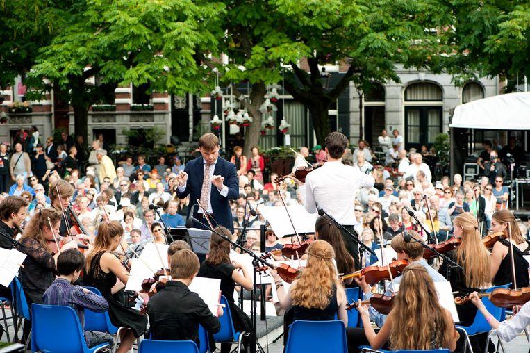 Geniet van klassieke muziek op het Amstelveld Beeld Anne Meyer