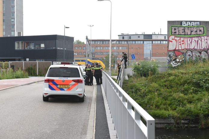De politie rukte massaal uit om de vluchtende verdachte te arresteren