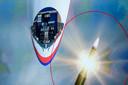 Een illustratie uit het MH17-rapport van de OVV: explosie van de BUK-raket