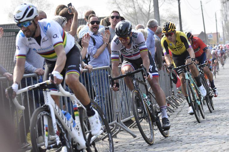 Alejandro Valverde, Peter Sagan en Wout van Aert staan zondag ook aan de start van de Amstel Gold Race.