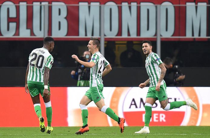Giovani Lo Celso viert zijn prachtige 0-2 namens Real Betis tegen AC Milan.