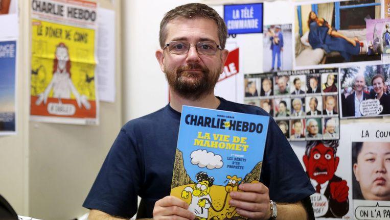 Uitgever Charb van tijdschrift Charlie Hebdo. Hij was woensdag een van de twaalf slachtoffers. Beeld afp