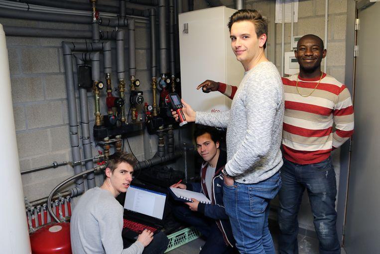 In februari dit jaar gingen de studenten onder meer langs bij Tennisclub De Nethe in Meerhout.