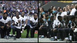 Tientallen American Football-spelers knielen tijdens volkslied uit protest tegen Trump