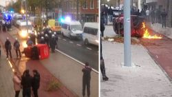 Hooligans steken wagentje verlamde schoenmaker in brand bij rellen na Club-Antwerp
