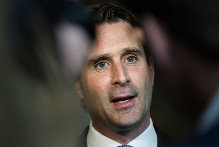 PvdA-Kamerlid Michiel Servaes tijdens het vragenuur in de Tweede Kamer. Beeld anp