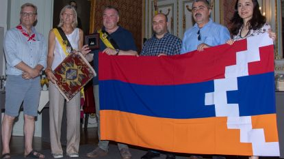Delegatie uit Armeens-christelijke Nagorno-Karabach ontvangen door stadsbestuur