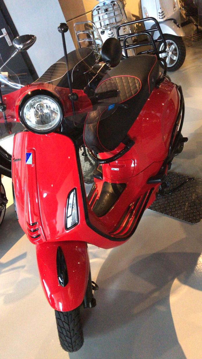 De scooter die werd geroofd