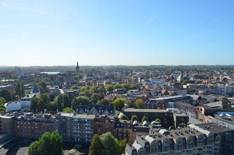 Vanop de hoogste verdieping van de oude Collegetoren heb je een mooi uitzicht over de stad.