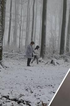 Deel Limburg met sneeuw bedekt
