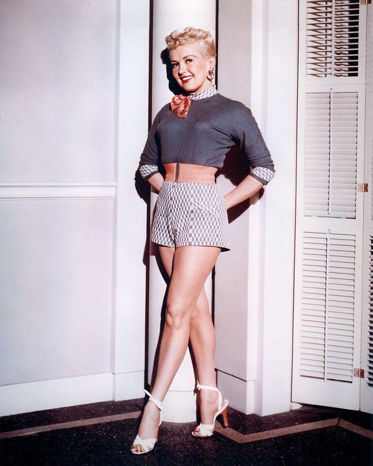 Danseres, actrice en zangeres Betty Grable (1916-1973) rond 1950. Beeld Getty