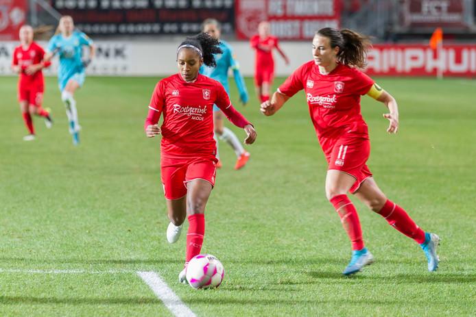 Renate Jansen (R) zorgde voor de 1-0 (archieffoto)