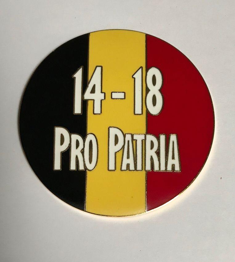 Het plaatje met de Belgische driekleur.
