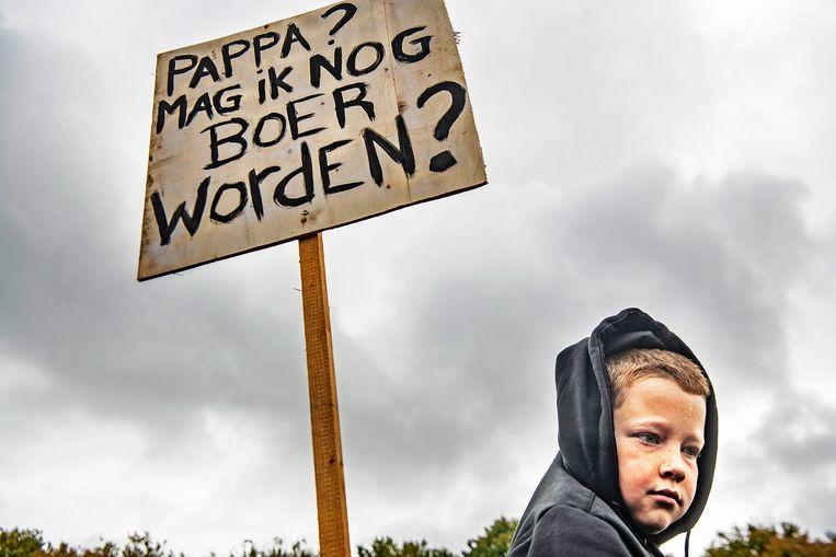 Boeren demonstreren massaal op het Malieveld in Den Haag. Beeld Guus Dubbelman / de Volkskrant