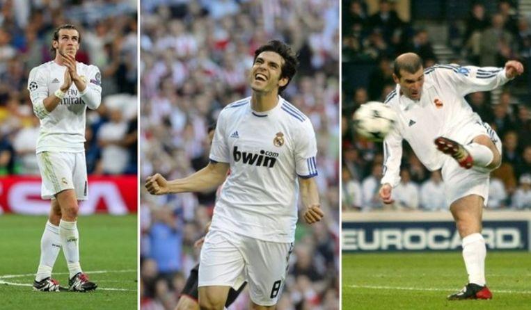 Van l naar r: Bale, Kaka en Zidane.