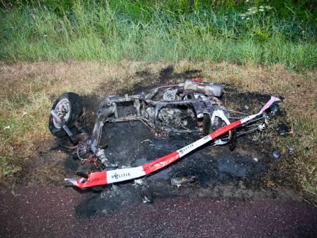Scooter brandt af in Duiven, bestuurder spoorloos