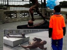 Vandalen vernielen standbeeld Lionel Messi