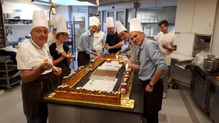 Alle lijsttrekkers gaven hun koekelarings een persoonlijke touch.