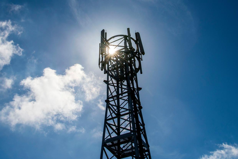 Een telefoonmast Beeld Getty Images