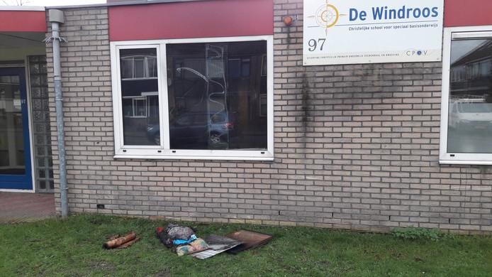 De poging tot brandstichting bij de Veenendaalse school.