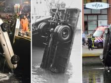 In beeld | 50 jaar lang pechvogels die hun auto zien verdwijnen in de Scheveningse haven