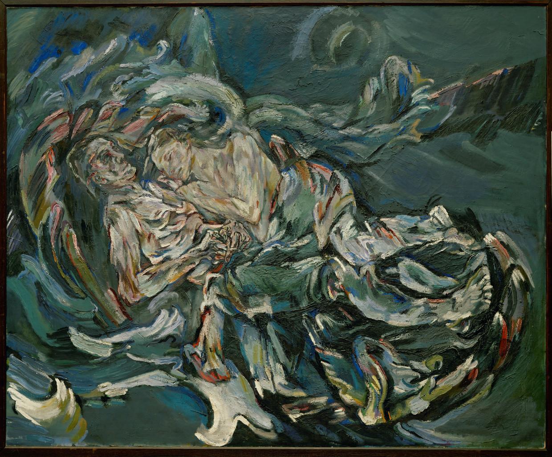 De windbruid van Oskar Kokoschka, waarop Alma Mahler (weduwe van Gustav Mahler) is afgebeeld met haar minnaar, Oskar Kokoschka zelf, 1914.  Beeld Foto Erich Lessing / Album