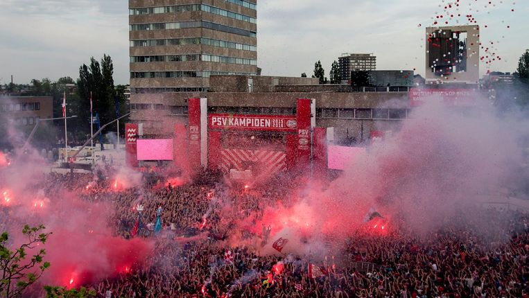 Kampioensfeest in Eindhoven 2016 Beeld anp