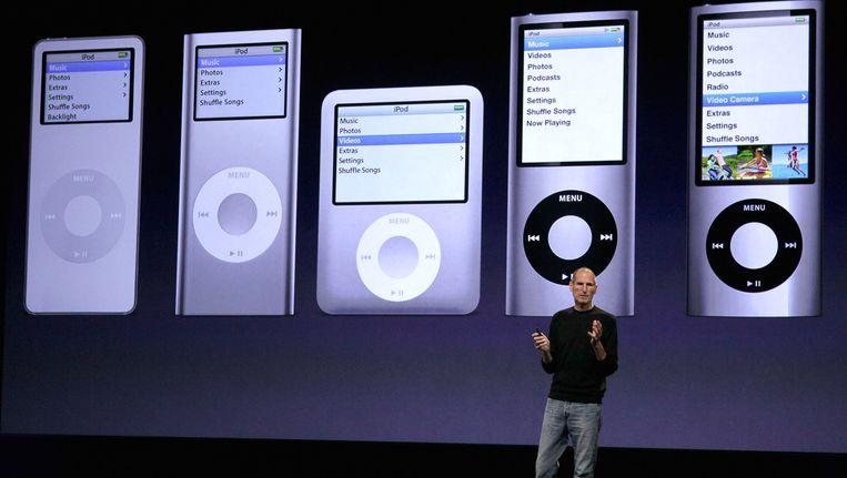 Wijlen Steven Jobs stelt de nieuwe iPods voor, september 2010.