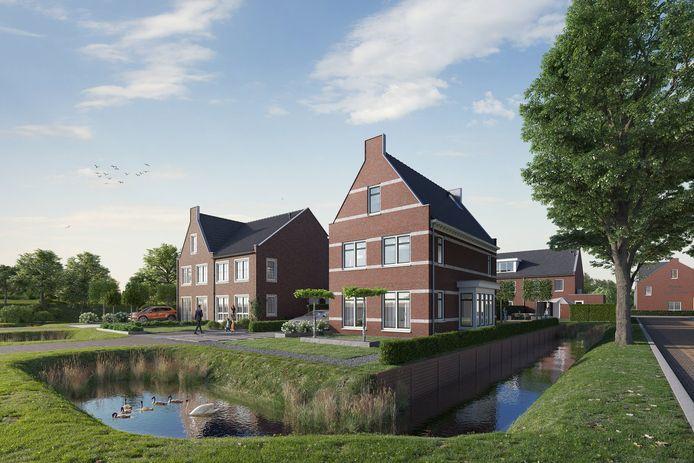 Op de plek waar ooit de deftige hofstede De Rustenburg stond, verrijst nu een nieuwbouwwijk.