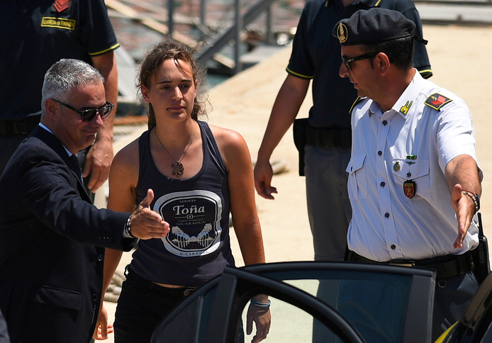 Carola Rackete à Porto Empedocle, Italie, le 1er juillet 2019.