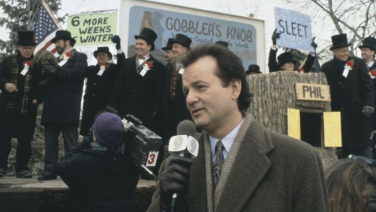 Bill Murray in de film Groundhog Day. Beeld anp