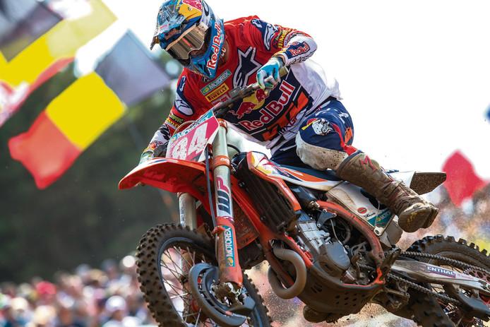 Jeffrey Herlings in actie op het circuit van Lommel.