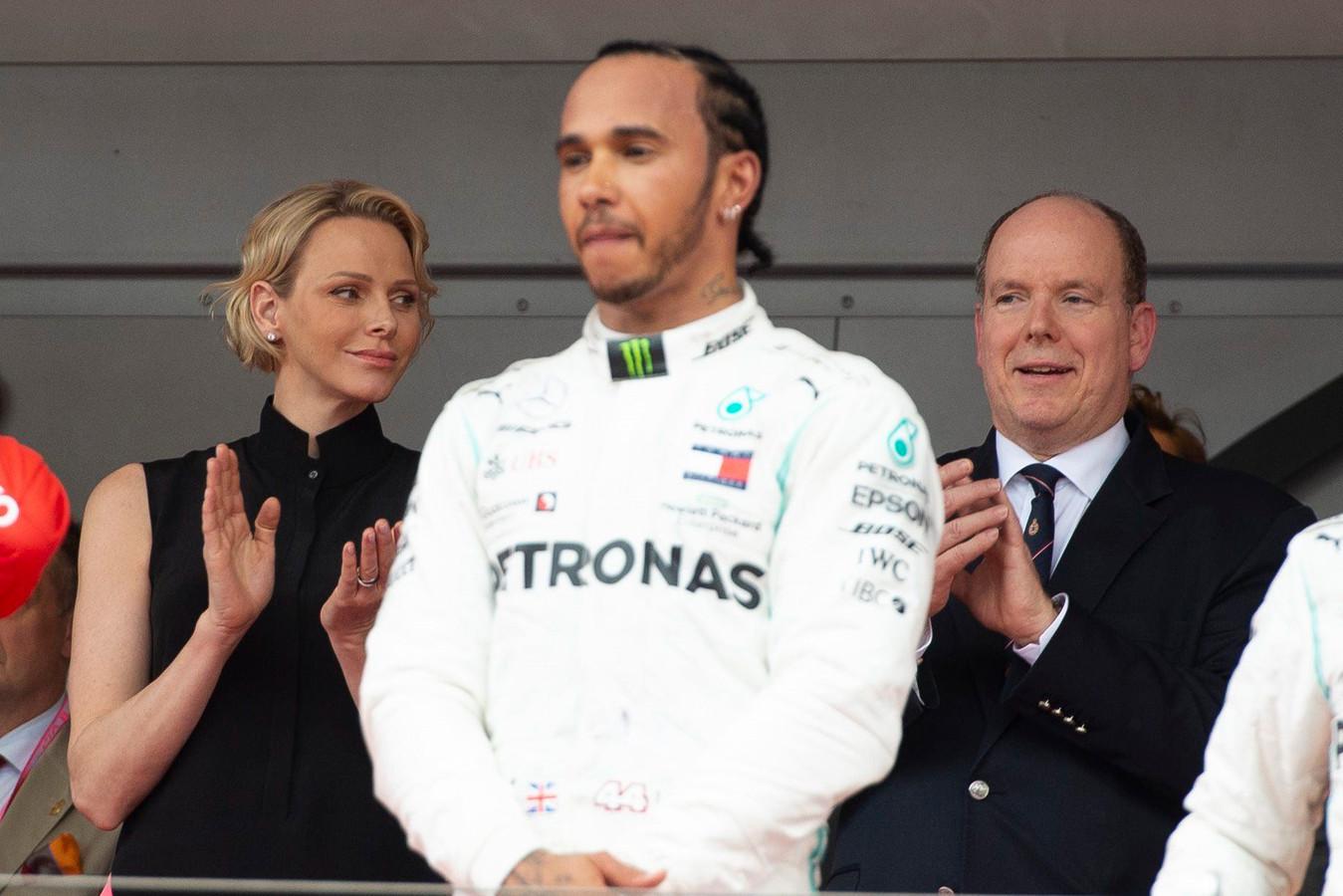 Charlene de Monaco, Lewis Hamilton, le prince Albert