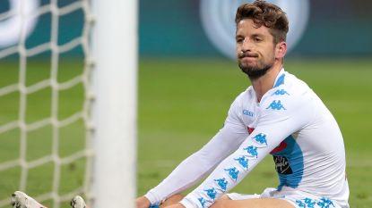 Dries Mertens scoort niet bij Napoli, maar sluipt wel tot op een puntje van Radja Nainggolan en AS Roma