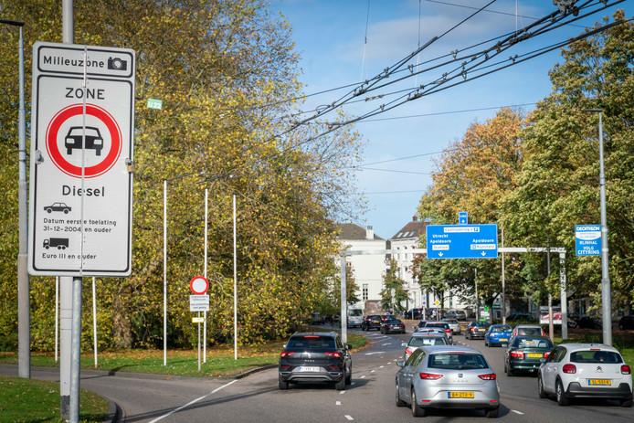 Milieuzone in Arnhemse binnestad.