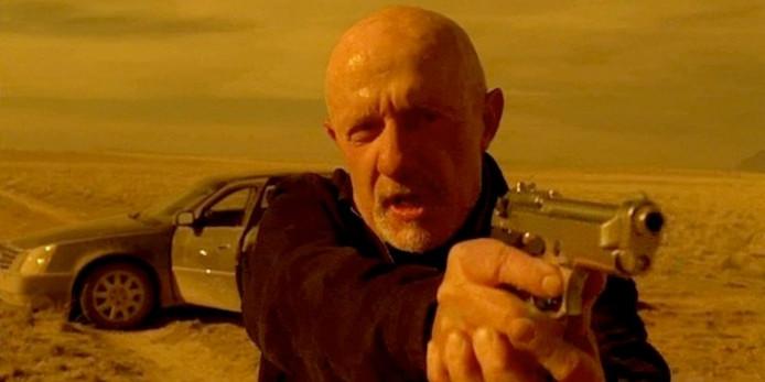 Jonathan Banks speelt de crimineel Mike in de series Breaking Bad en Better Call Saul.
