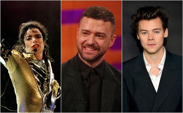 Michael Jackson, Justin Timberlake en Harry Styles.