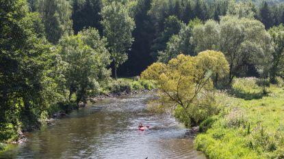 Kajakken in Ourthe en Lesse verboden door droogte