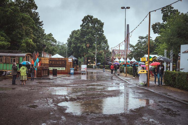 Gentse Feesten in de regen, Baudelopark