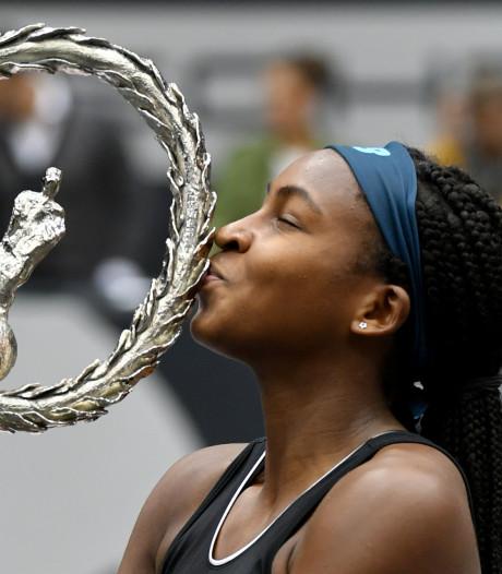 Supertalent Gauff (15) wint eerste WTA-titel: 'Niet voor mogelijk gehouden'