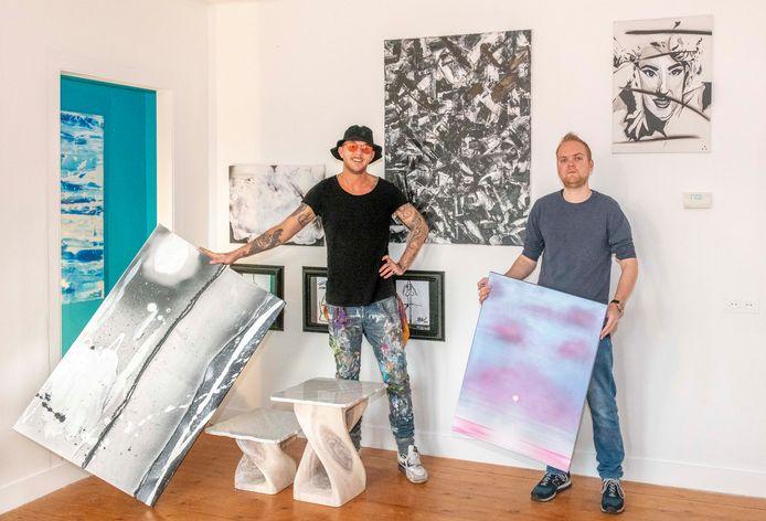 Michael Kluin (l) en Bart van Kervinck van ATELIER8A. FOTO: © Boaz Timmermans / Fos Fotografie