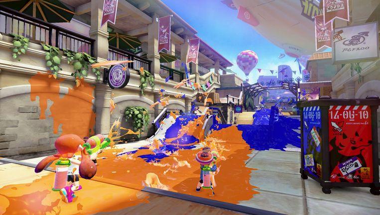 Beeld uit Splatoon voor de Wii U. Beeld Nintendo
