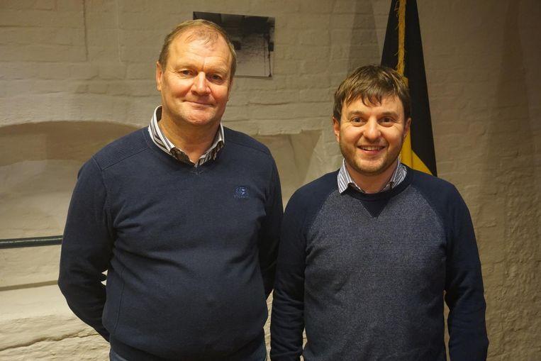 Eric Huyghe (links) en Tom Pollentier vormen het belangrijke CD&V-duo tijdens de verkiezingen.